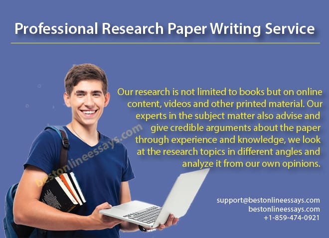 We have a huge knowledge base to enable us provide you with Professional Research Writing service you can be proud of