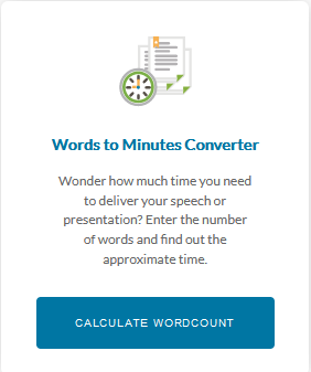 Words to minutes Converter
